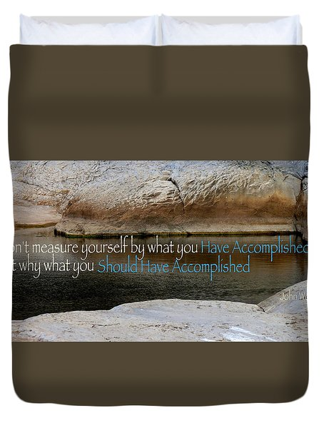 Duvet Cover featuring the photograph Seek Deeper by David Norman