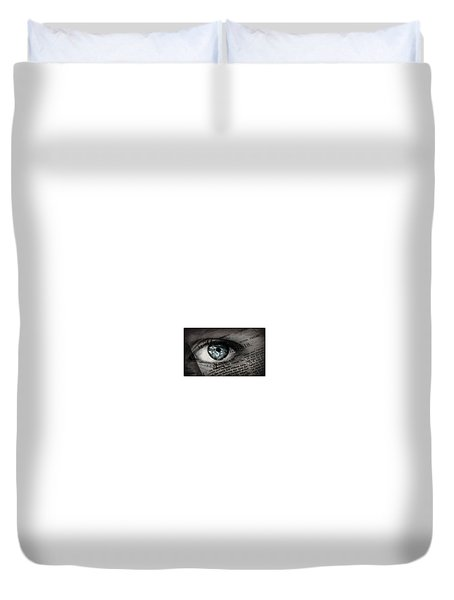 Seek The Truth Duvet Cover by David Norman