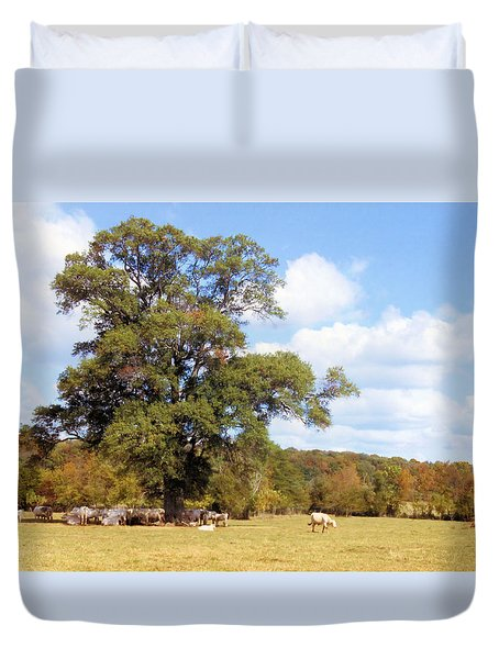 Seeking Shade Duvet Cover