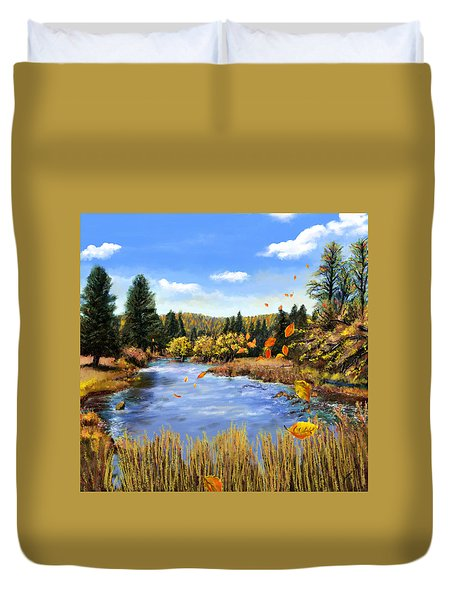 Seeley Montana Fall Duvet Cover