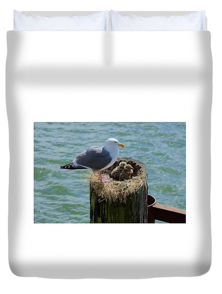 Seagull Family Duvet Cover