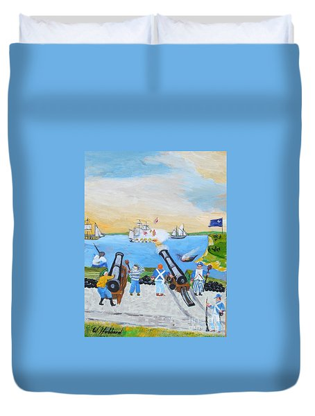 Seige Of Charleston, Sc Duvet Cover by Bill Hubbard