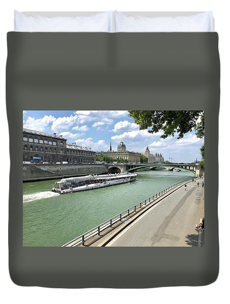 River Seine In Paris Duvet Cover