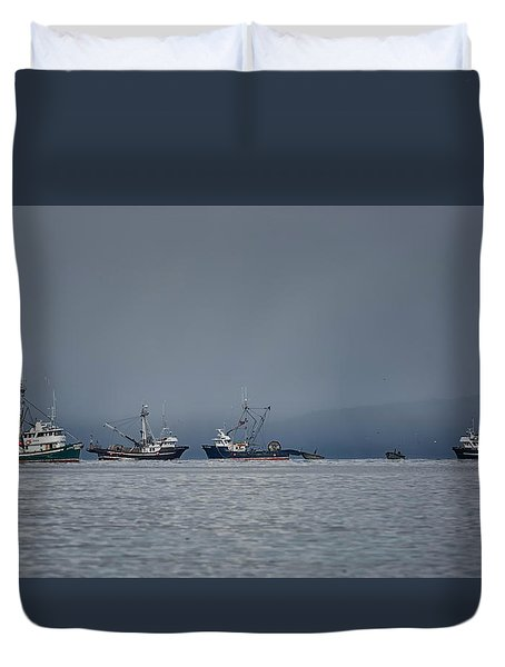 Seiners Off Mistaken Island Duvet Cover by Randy Hall