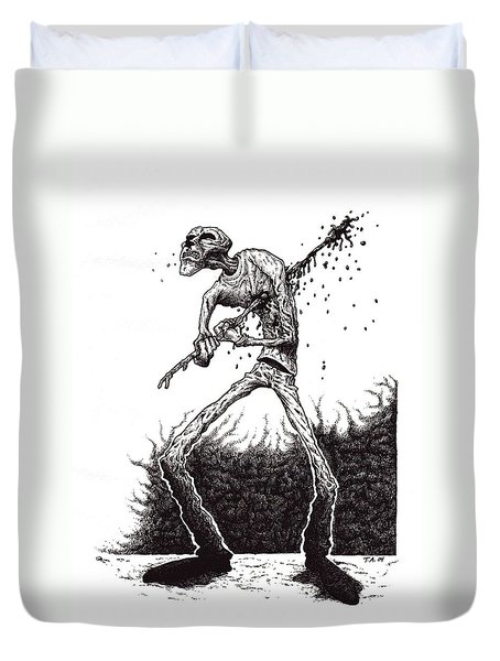 Self Inflicted Duvet Cover by Tobey Anderson