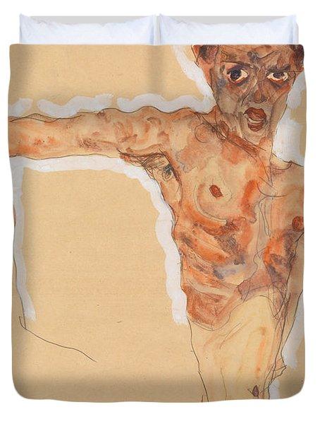Self-portrait, 1911  Duvet Cover