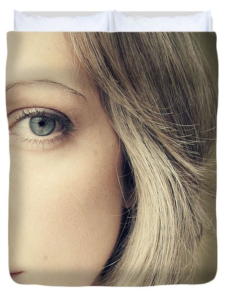 Self-portrait Duvet Cover by Amy Tyler