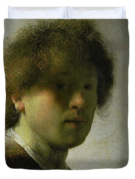 Self Portrait As A Young Man Duvet Cover by Rembrandt