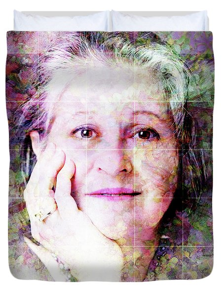 Self Portrait Duvet Cover by Barbara Berney