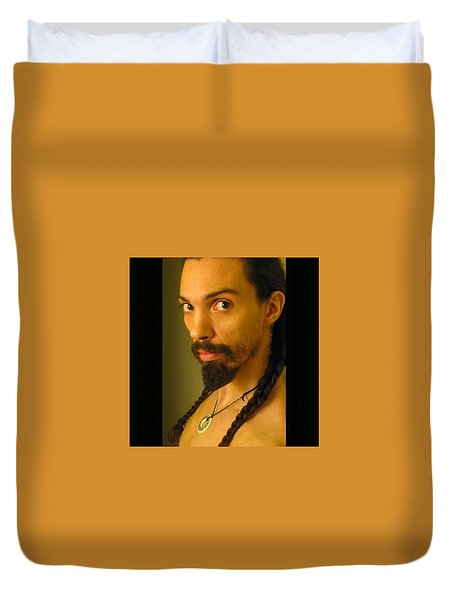 Self Portrait The Native Within Me Duvet Cover