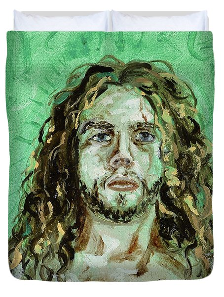 Self Portrait -with Emerald Green And Mummy Brown- Duvet Cover