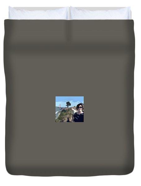 Selfie In San Francisco Duvet Cover