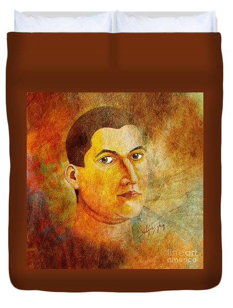 Selfportrait Oil Duvet Cover
