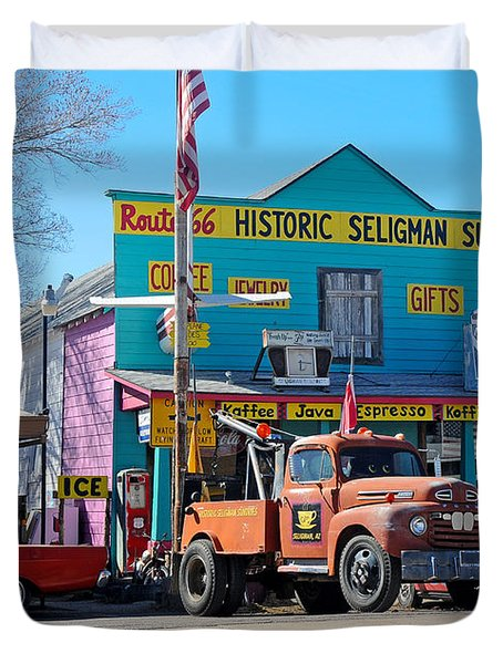 Seligman Sundries On Historic Route 66 Duvet Cover