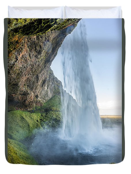 Duvet Cover featuring the photograph Seljalandsfoss by James Billings