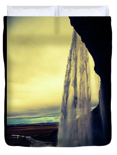 Seljalandsfoss Sunset Duvet Cover