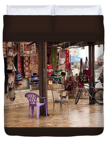Selling At The Bazaar Duvet Cover by Rae Tucker