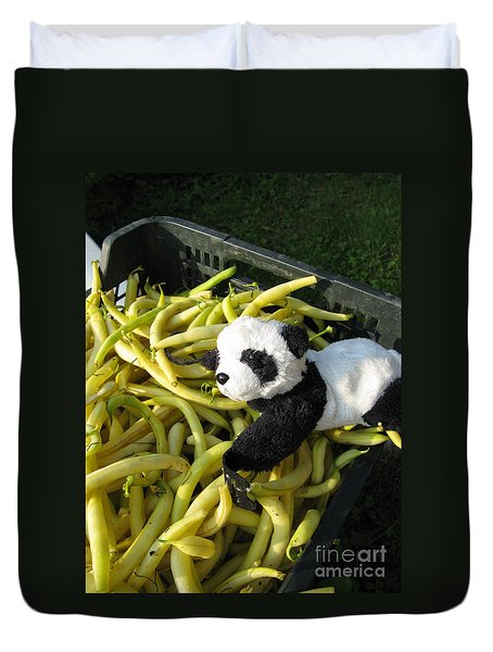 Duvet Cover featuring the photograph Selling Beans by Ausra Huntington nee Paulauskaite