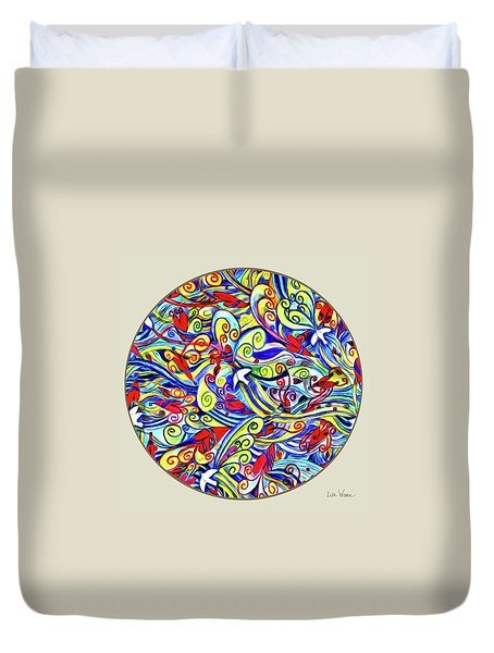 Semi Abstract Paintings Button Duvet Cover