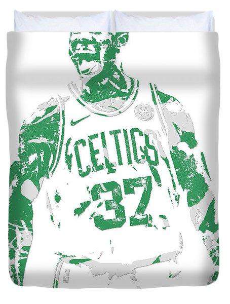 Semi Ojeleye Boston Celtics Pixel Art 1 Duvet Cover