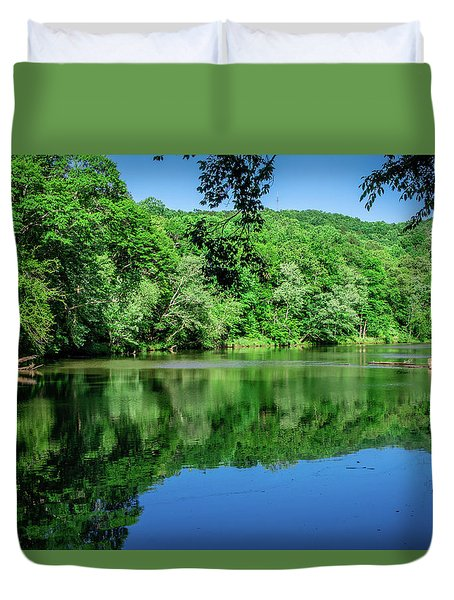 Semi Placid Stream Duvet Cover