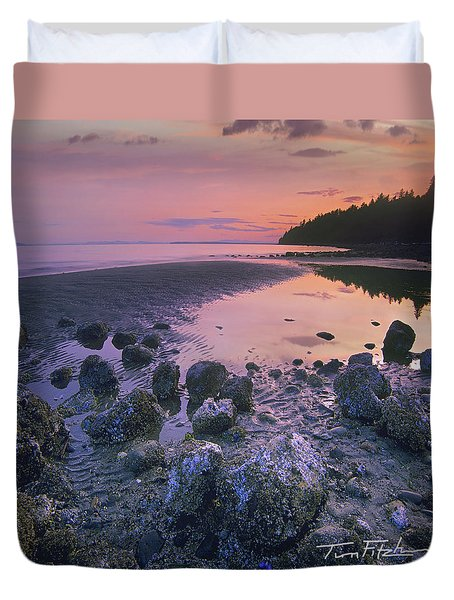 Semiahmoo Bay Duvet Cover by Tim Fitzharris