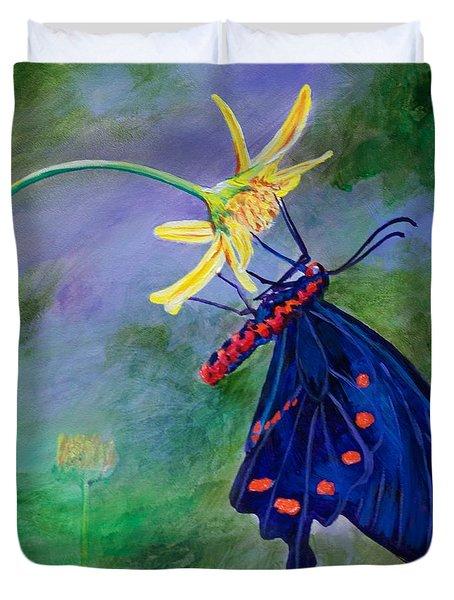 Semperi Swallowtail Butterfly Duvet Cover