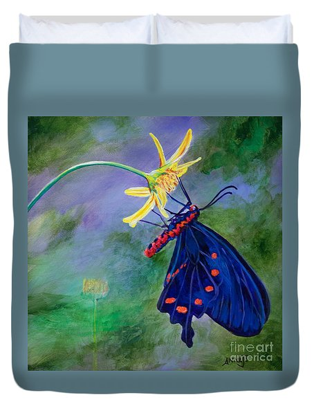 Semperi Swallowtail Butterfly Duvet Cover