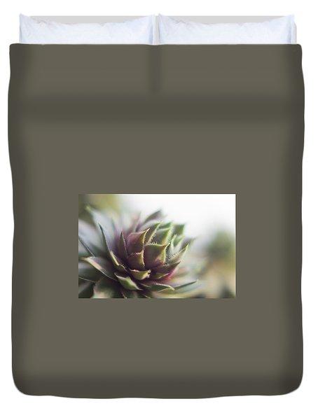 Duvet Cover featuring the photograph Sempervivum Prickles by Scott Lyons