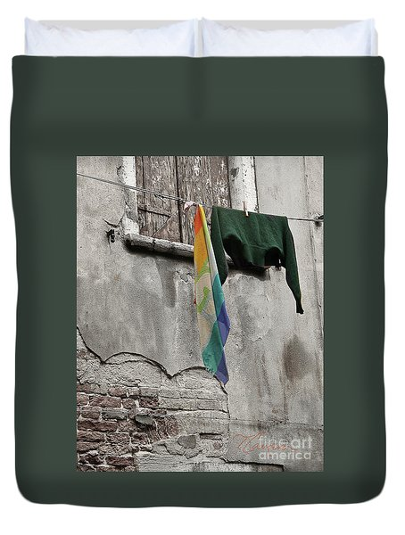 Duvet Cover featuring the photograph Semplicita - Venice by Tom Cameron