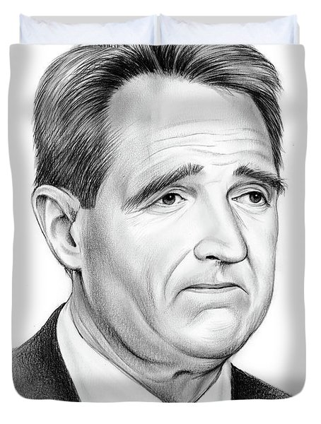 Sen Jeff Flake Duvet Cover