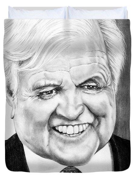 Senator Edward Kennedy Duvet Cover by Murphy Elliott