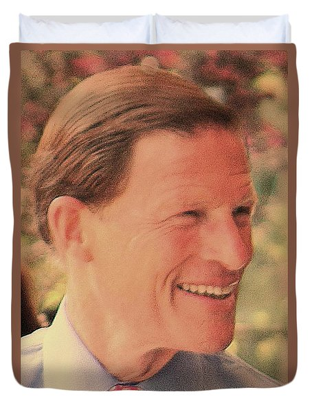 Duvet Cover featuring the photograph Senator Richard Blumenthal by Jesse Ciazza