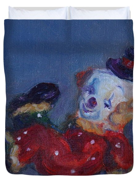 Send In The Clowns Duvet Cover