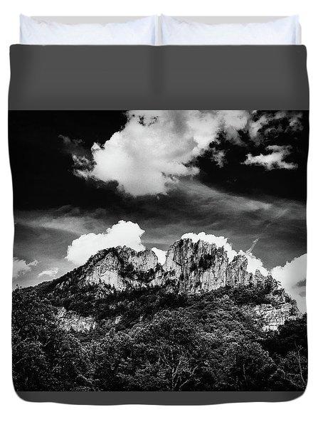 Duvet Cover featuring the photograph Seneca Rocks II by Shane Holsclaw