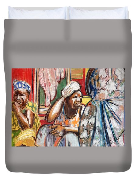 Duvet Cover featuring the painting Senegal, 1965 by Gary Coleman