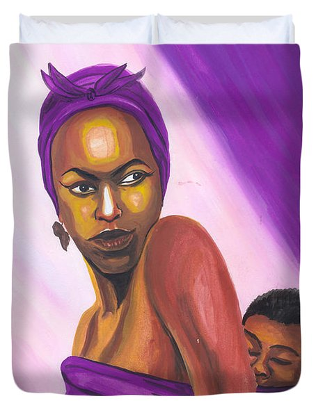 Senegalese Woman Duvet Cover