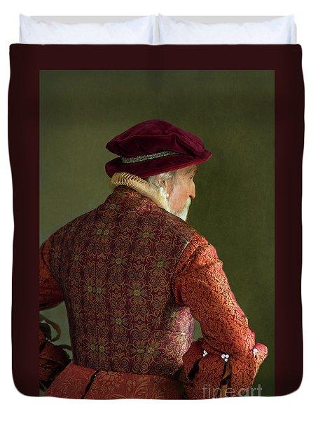 Senior Tudor Man Duvet Cover by Lee Avison