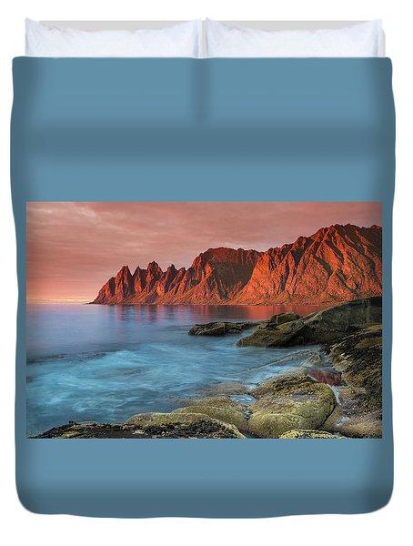 Senja Red Duvet Cover