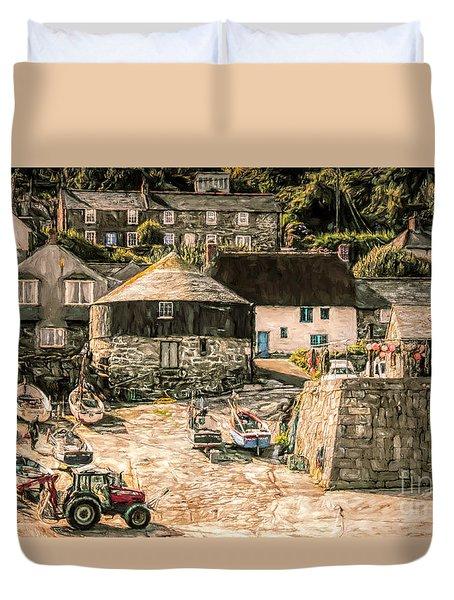 Sennen Cove Cornwall Duvet Cover