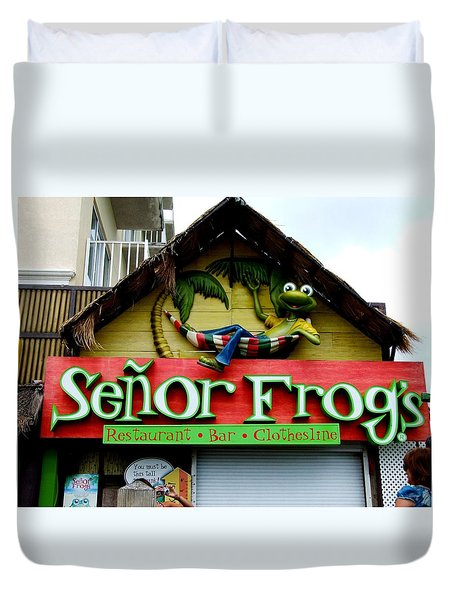 Senor Frogs Duvet Cover