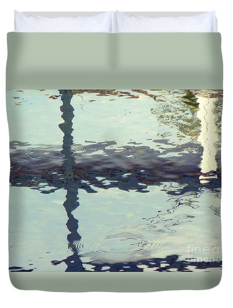 Sensing The Water Duvet Cover