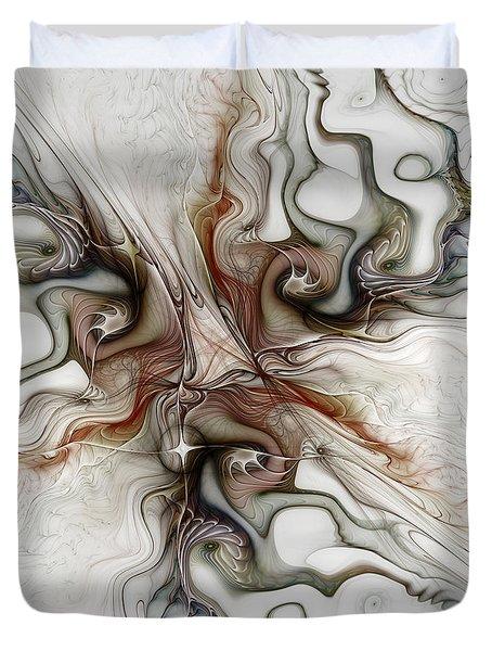 Duvet Cover featuring the digital art Sensuality by Karin Kuhlmann