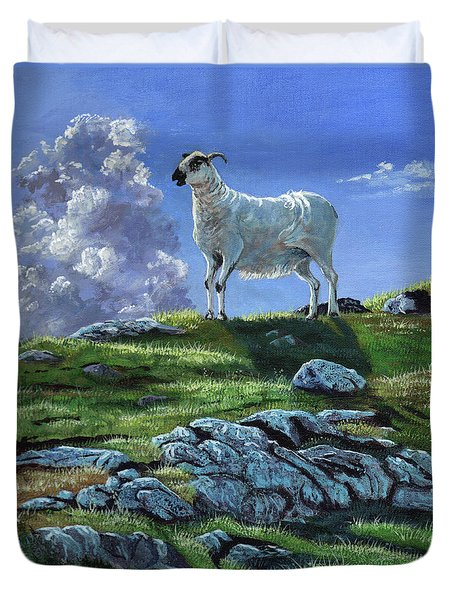 Sentinal Of The Highlands Duvet Cover