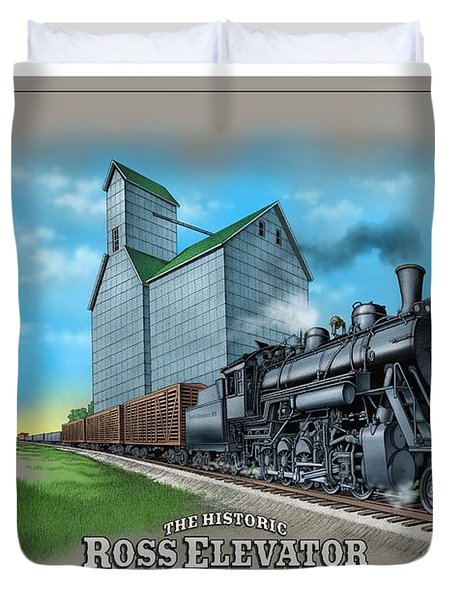 The Ross Elevator Sentinel Of The Plains Duvet Cover