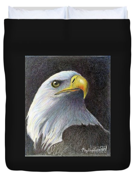 Duvet Cover featuring the painting Sentinel by Phyllis Howard
