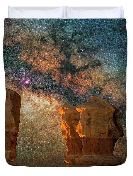 Sentinels Of The Night Duvet Cover