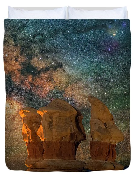 Sentinels Of The Night Duvet Cover