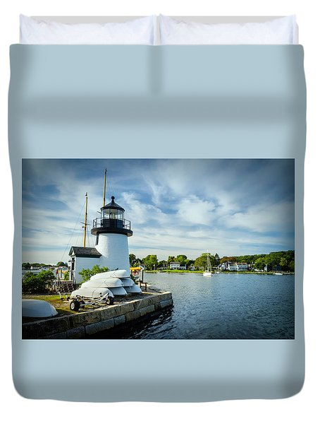 Sentinels Of The Sea Lighthouse Duvet Cover