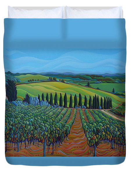 Sentrees Of The Grapes Duvet Cover